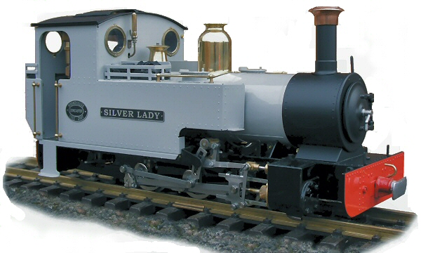 test silver lady roundhouse live steam locomotive for sale 01