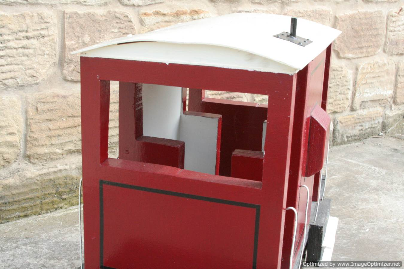 test Red Live Steam Brake Van for sale 02 Optimized