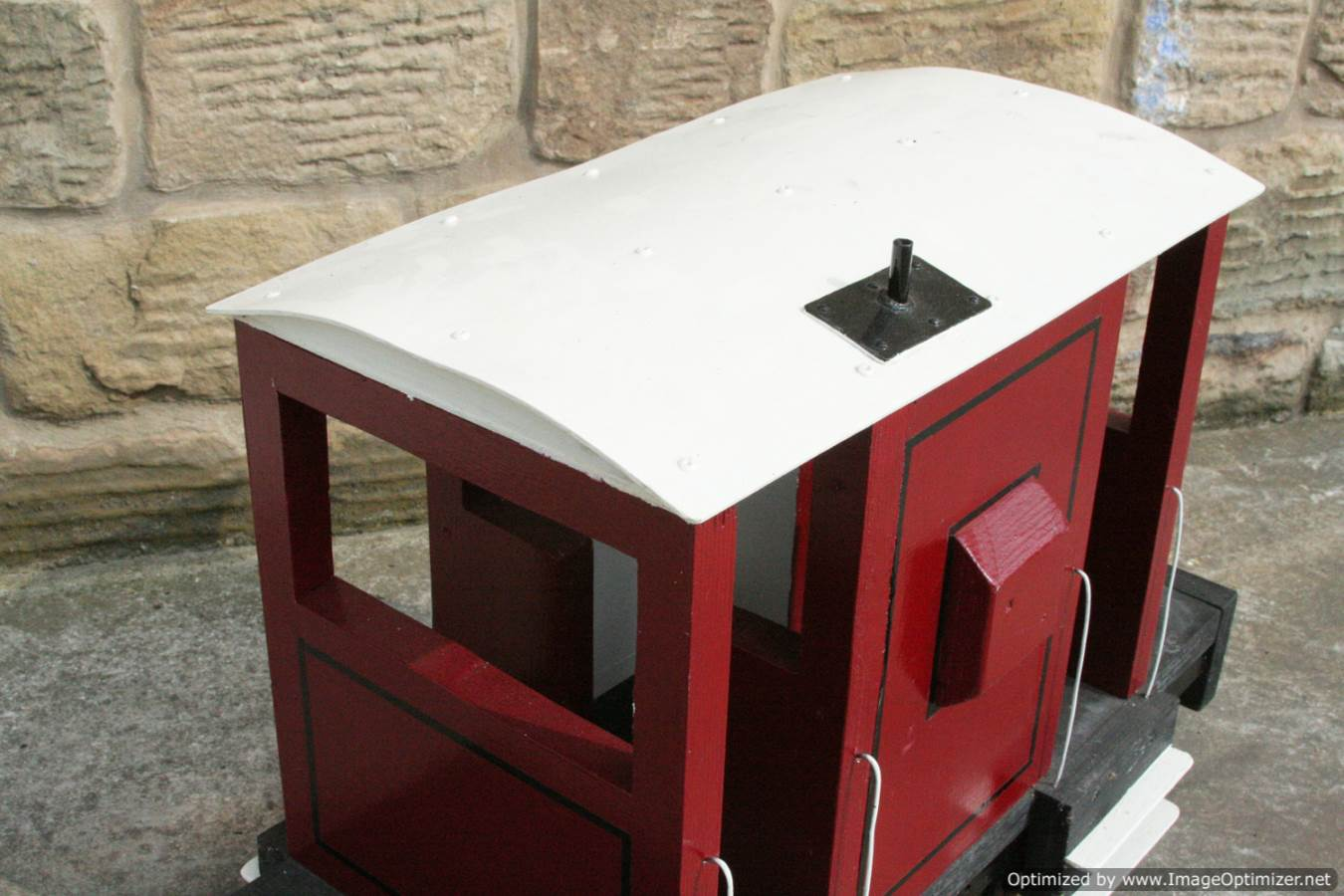 test Red Live Steam Brake Van for sale 03 Optimized