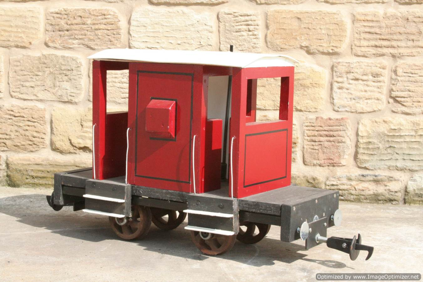 test Red Live Steam Brake Van for sale 05 Optimized