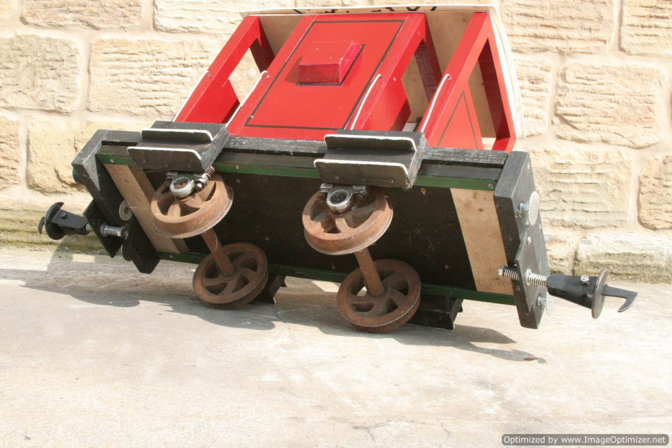 test Red Live Steam Brake Van for sale 06 Optimized