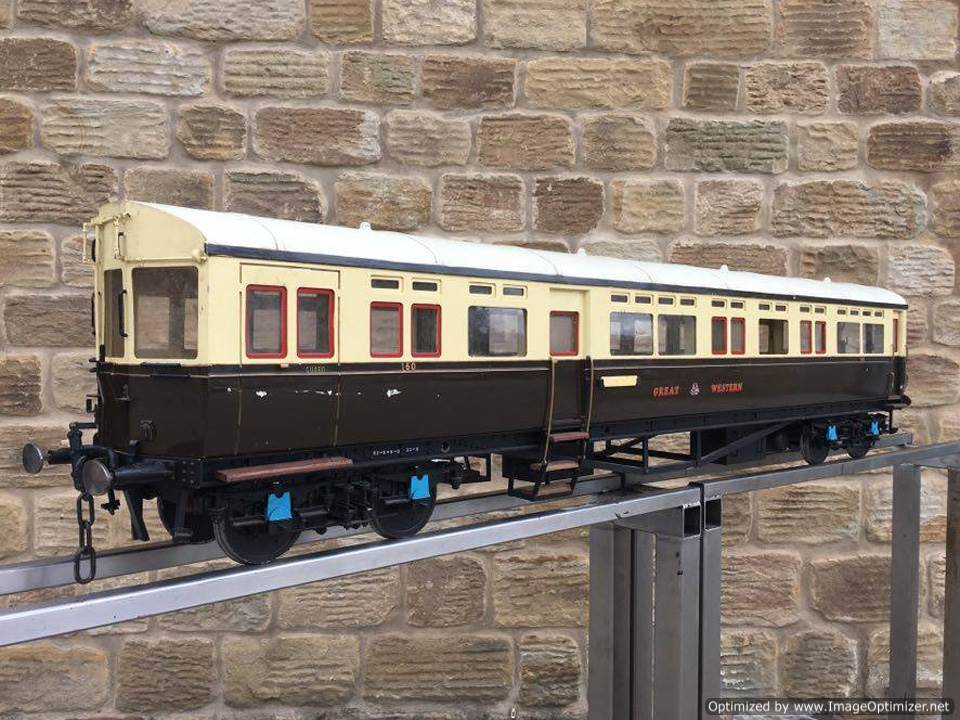 test 5 inch Gauge Live Steam GWR Autocoach for sale 06 Optimized