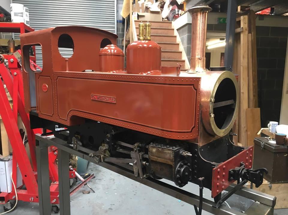 test 5 inch gauge Fowler locomotive assembled 01