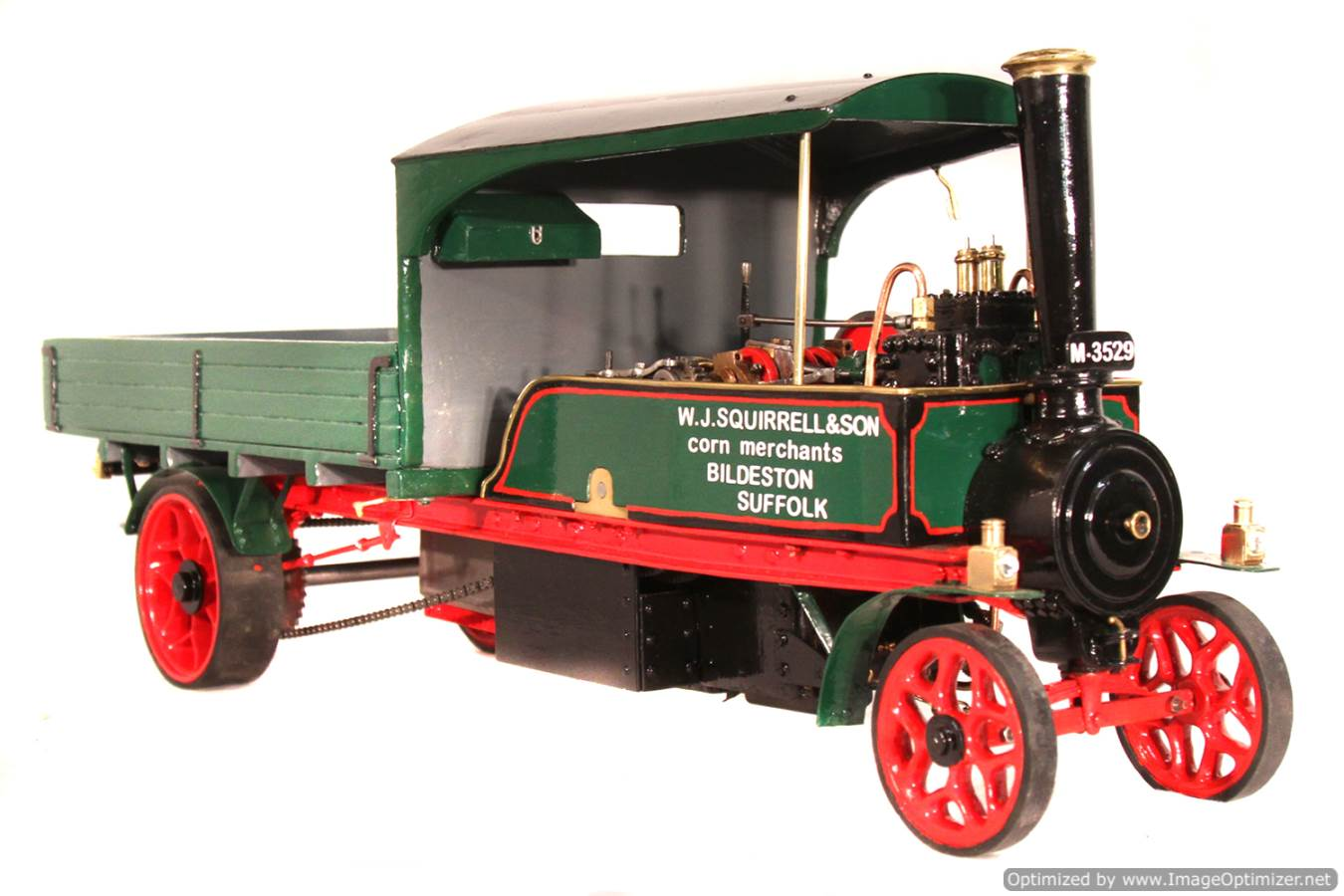 test 1 inch Foden Lorry Live Steam Locomotive for sale 08 Optimized