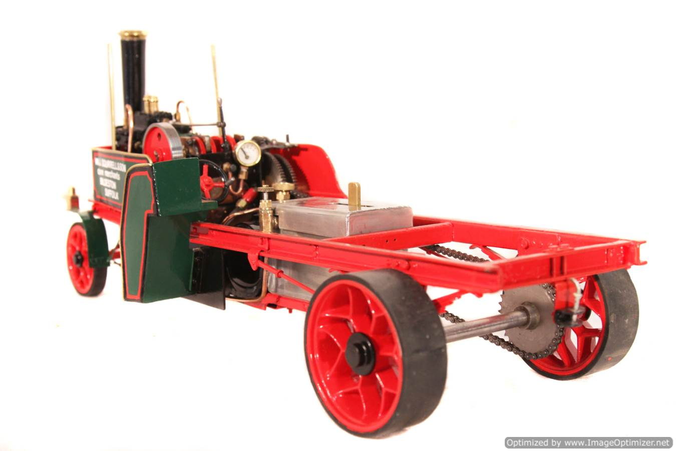 test 1 inch Foden Lorry Live Steam Locomotive for sale 13 Optimized
