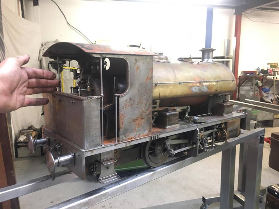test 5 gauge Bagnall Kenfig Ann of Holland live steam for sale 02
