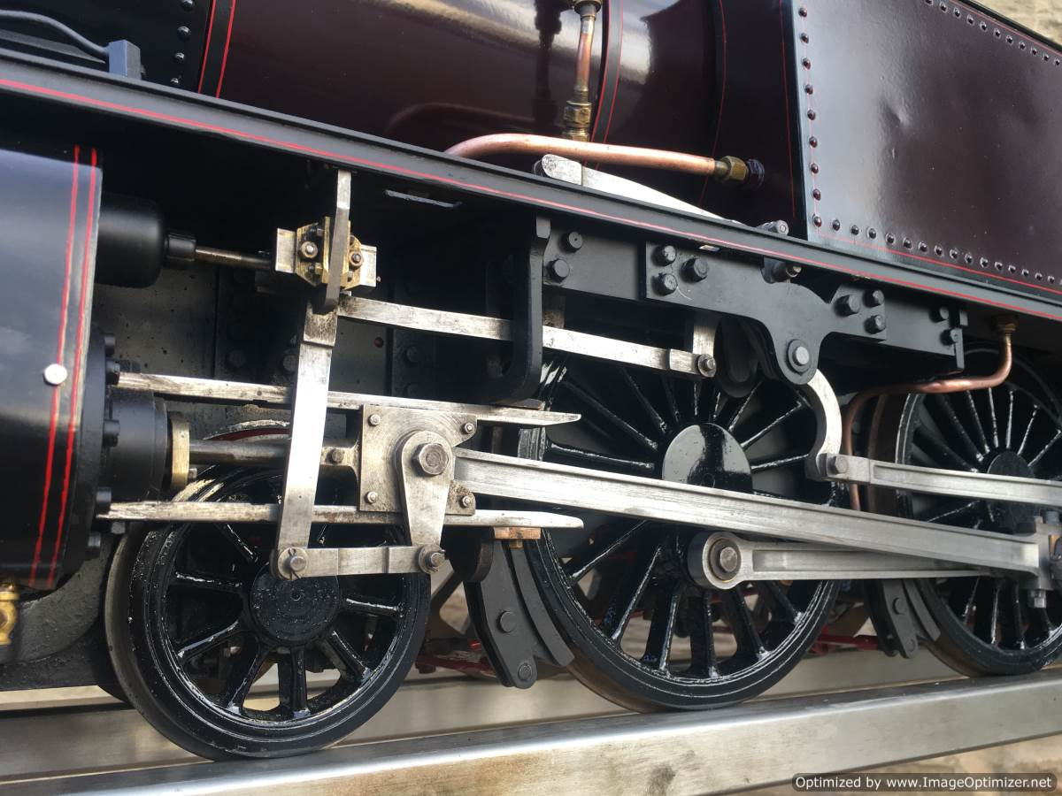 test Baltic Tank Engine 5 inch gauge live steam model for sale 07-Optimized