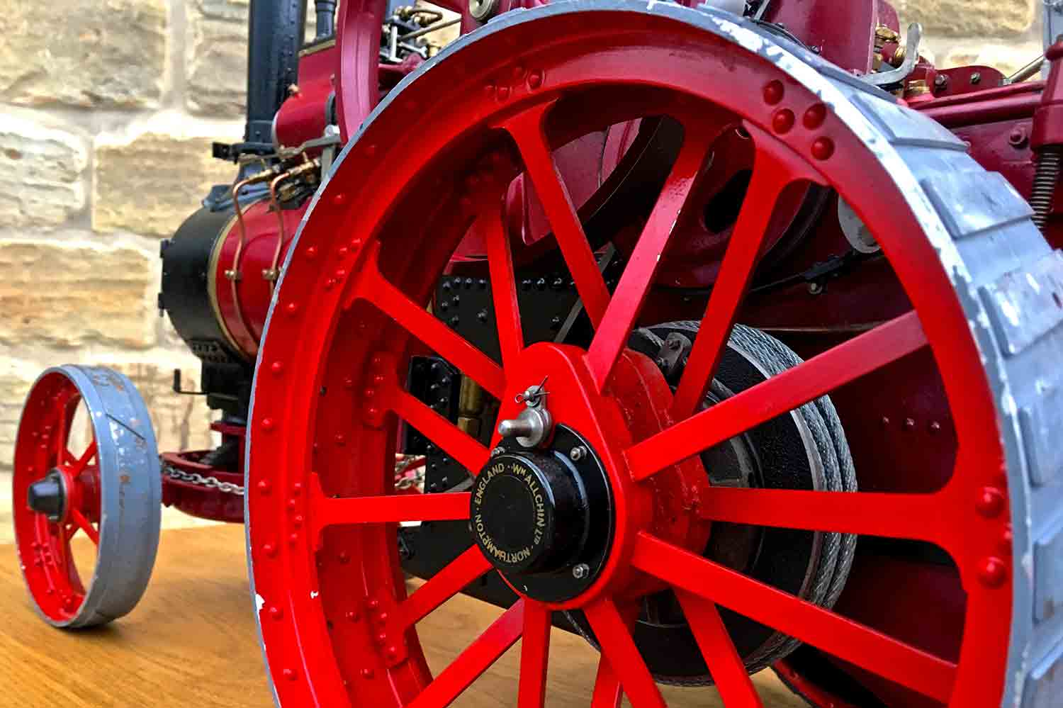 test Royal-Chester-Alchin-DCC-traction-engine-live-steam-for-sale-12