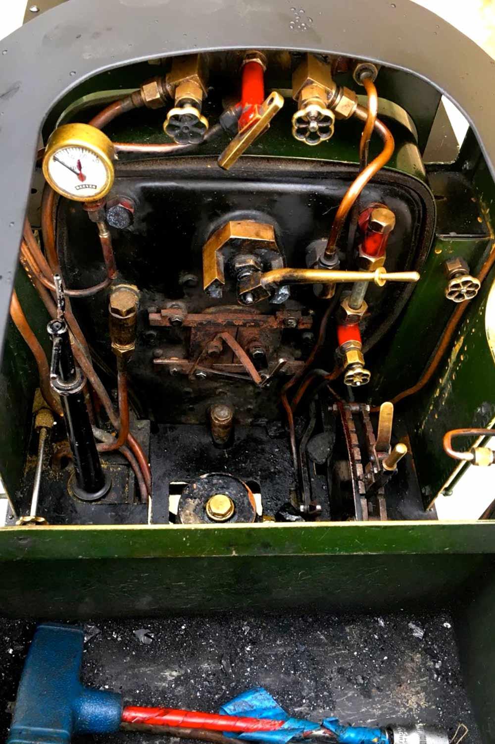 test 5-inch-gauge-GWR-45xx-prairie-tank-live-steam-Model-for-sale-10