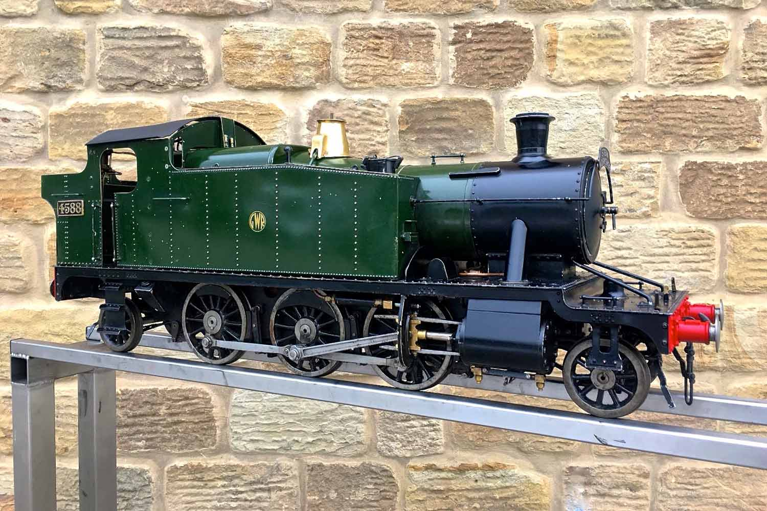 test 5-inch-gauge-GWR-45xx-prairie-tank-live-steam-Model-for-sale-13