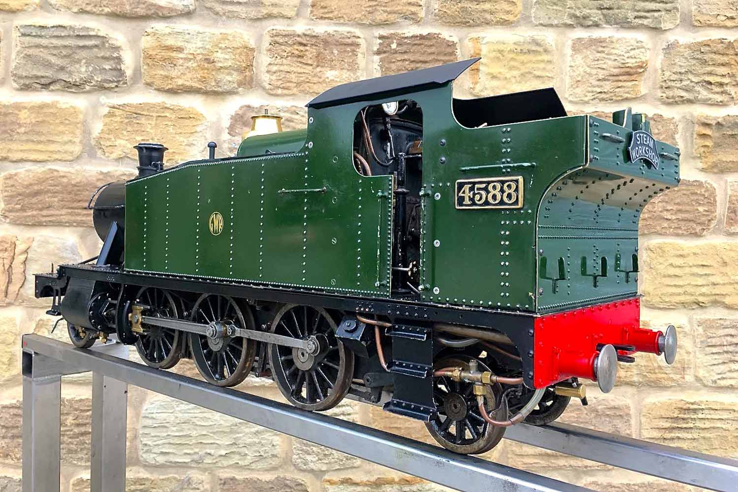 test 5-inch-gauge-GWR-45xx-prairie-tank-live-steam-Model-for-sale-16