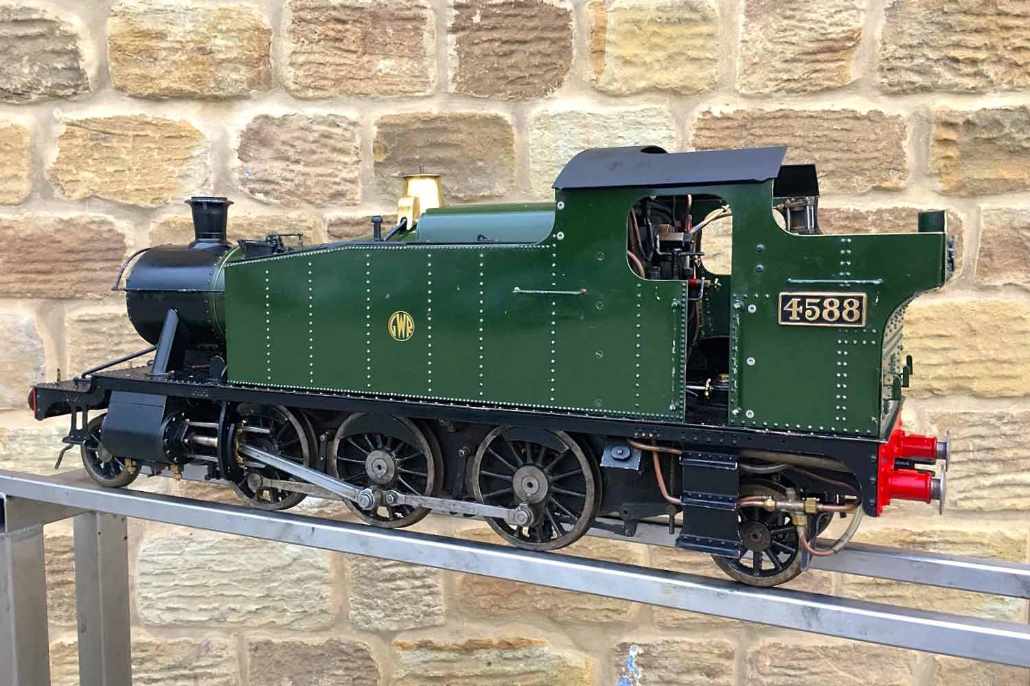 test 5-inch-gauge-GWR-45xx-prairie-tank-live-steam-Model-for-sale-17