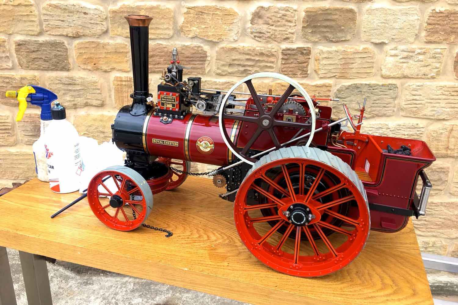 test 1-and-a-half-inch-scale-Royal-Chester-Alchin-traction-engine-live-steam-model-for-sale-1