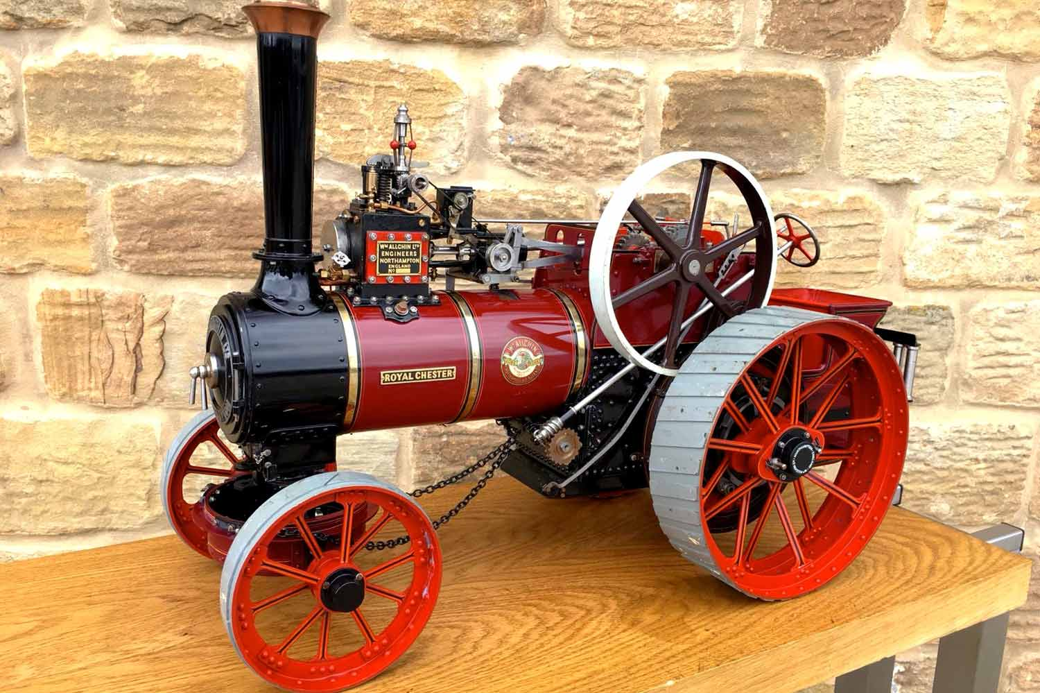 test 1-and-a-half-inch-scale-Royal-Chester-Alchin-traction-engine-live-steam-model-for-sale-2