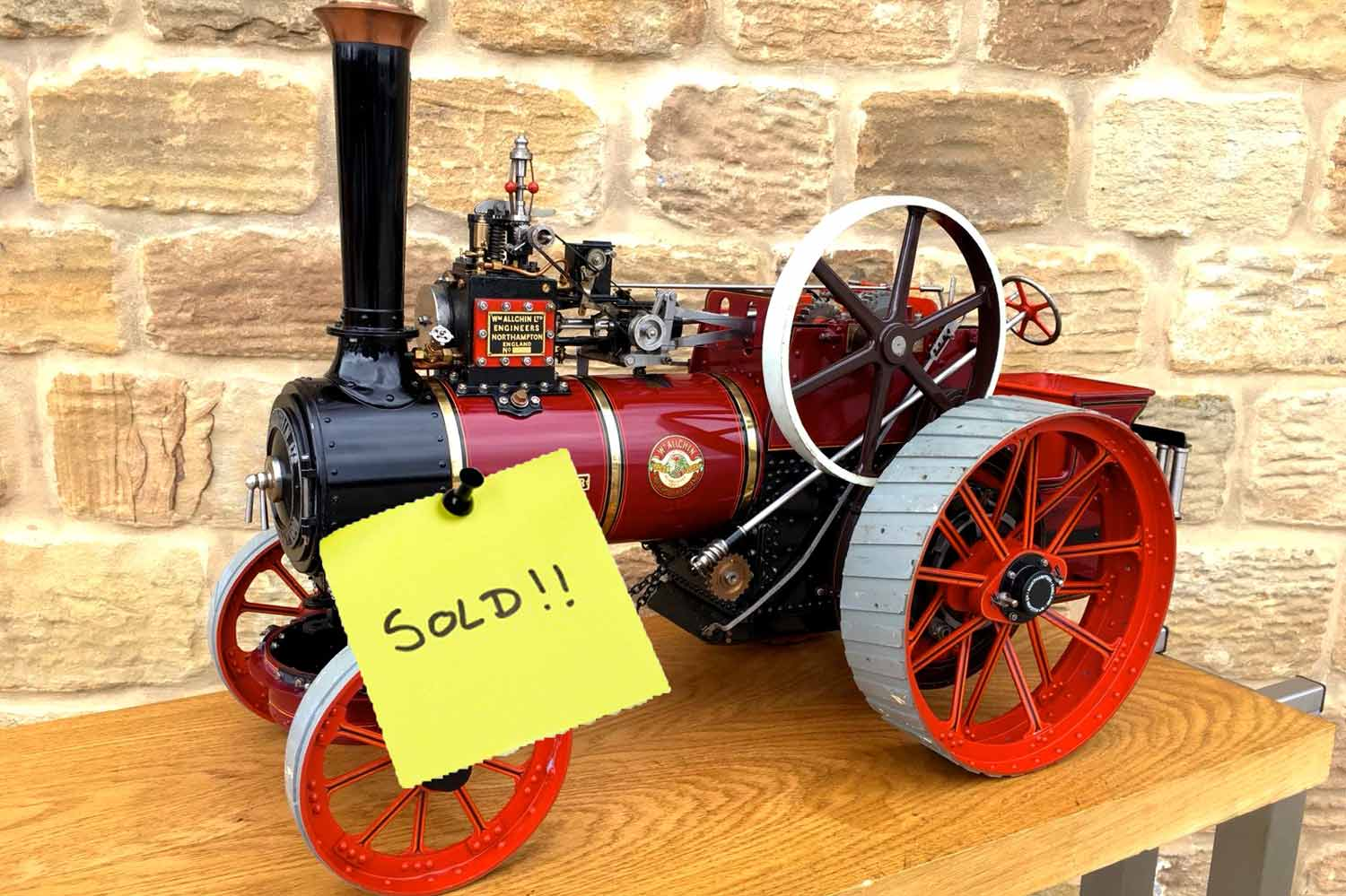 test SOLD-1-and-a-half-inch-scale-Royal-Chester-Alchin-traction-engine-live-steam-model-for-sale