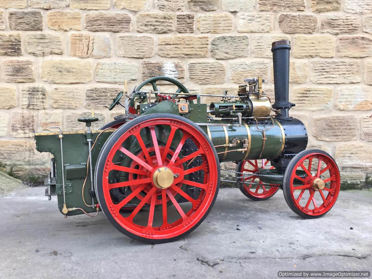 test 3 inch Foster Live Steam Traction Engine For Sale (1)