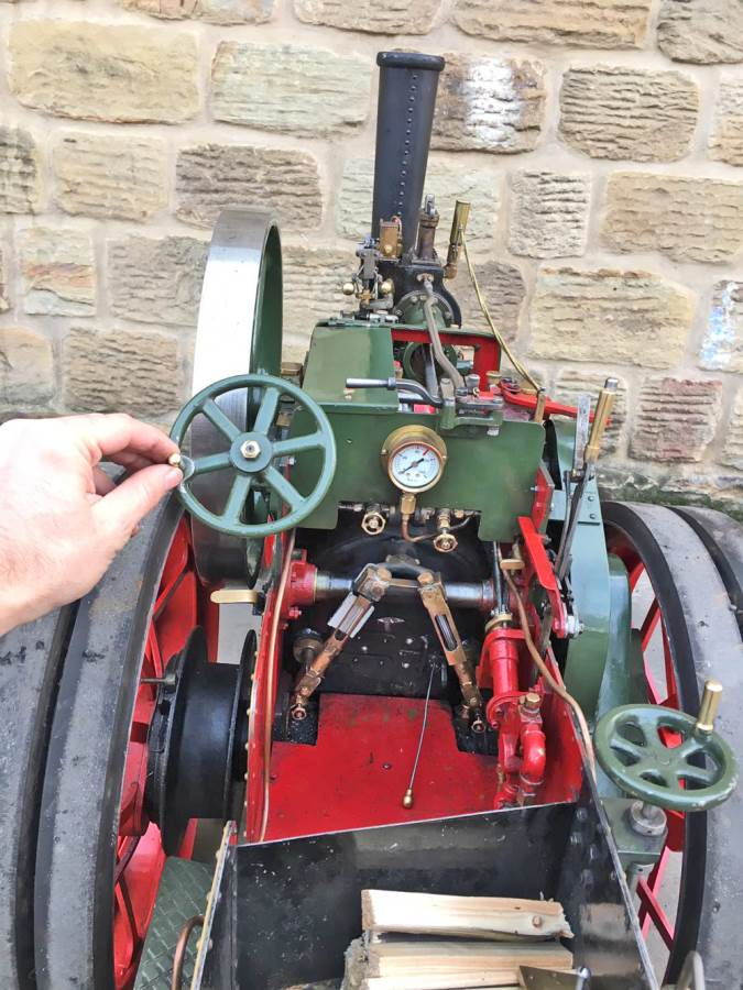 test 3 inch Foster Live Steam Traction Engine For Sale (21)