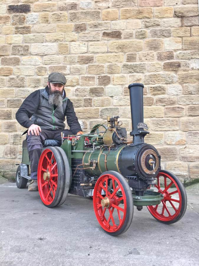 test 3 inch Foster Live Steam Traction Engine For Sale (25)