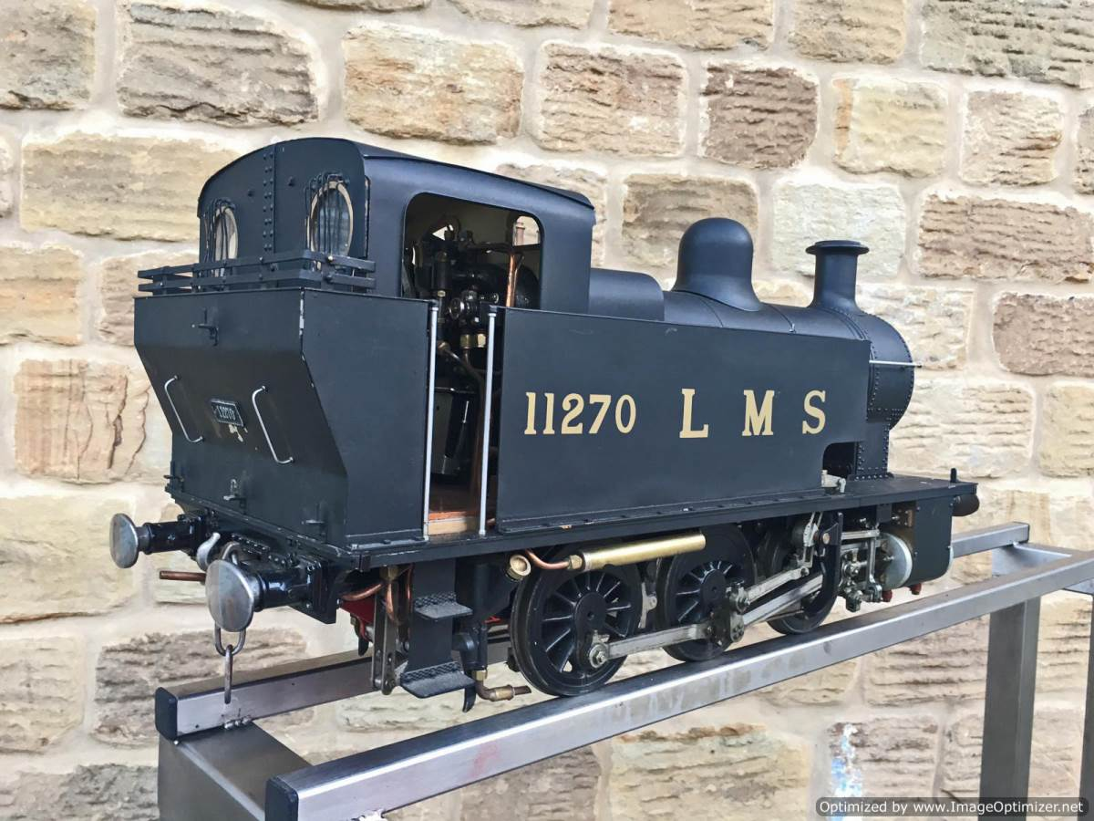 test 5 inch gauge LMS 2F Twin Sisters live steam for sale (11)