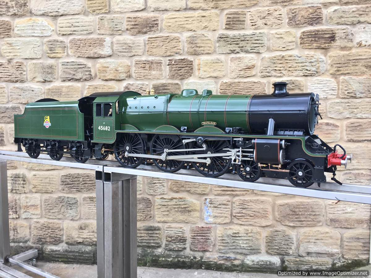 test 5 inch gauge LMS Jubilee Kingscale live steam model for sale (1)