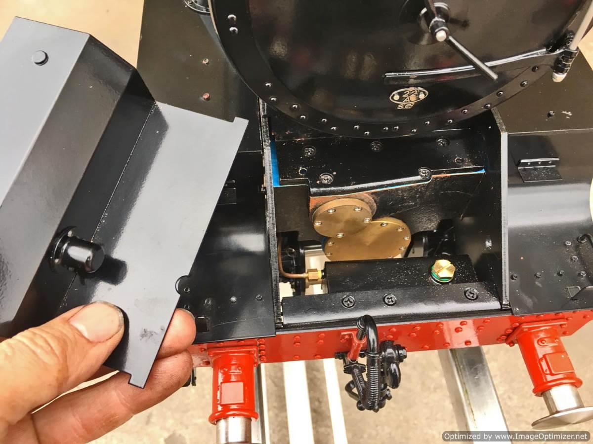 test 5 inch gauge LMS Jubilee Kingscale live steam model for sale (16)