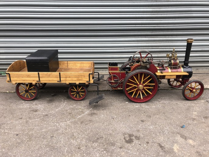 test 2 inch scale Burrell live steam traction engine for sale 01