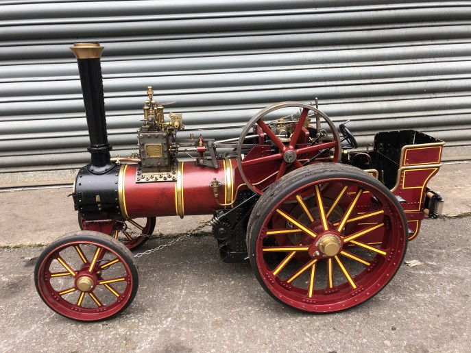 test 2 inch scale Burrell live steam traction engine for sale 02