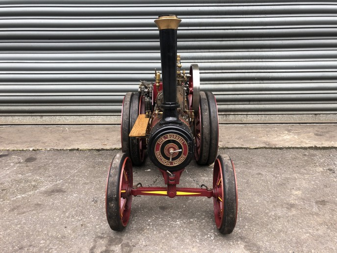 test 2 inch scale Burrell live steam traction engine for sale 03