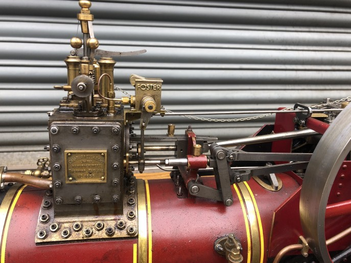 test 2 inch scale Burrell live steam traction engine for sale 04