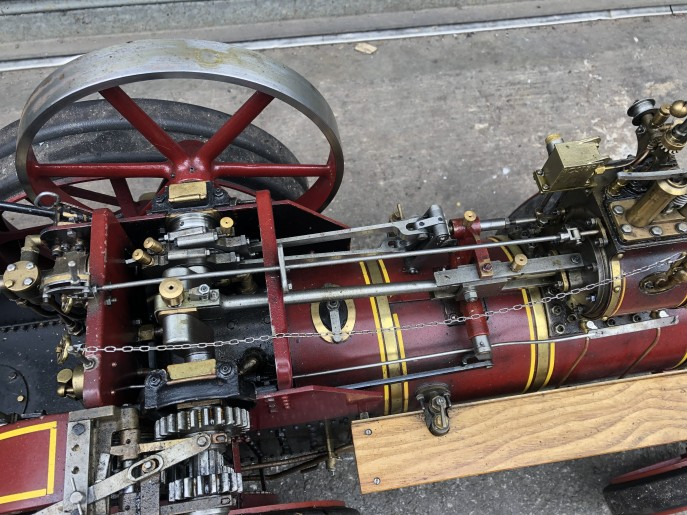 test 2 inch scale Burrell live steam traction engine for sale 05