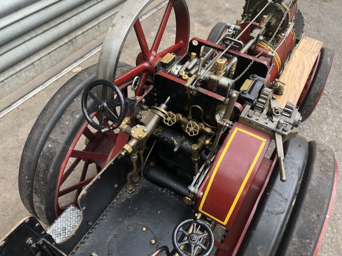 test 2 inch scale Burrell live steam traction engine for sale 06