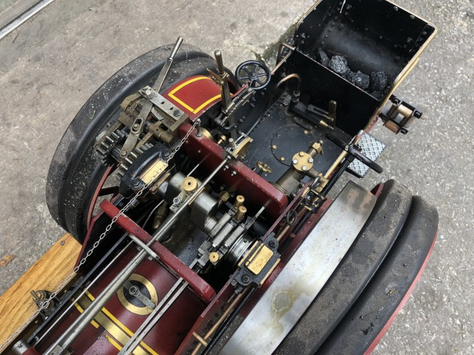 test 2 inch scale Burrell live steam traction engine for sale 07
