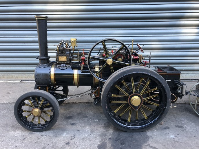 test 2 inch scale Fowler A7 traction engine live steam model for sale 01