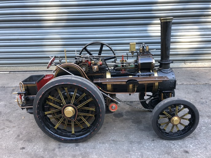 test 2 inch scale Fowler A7 traction engine live steam model for sale 02
