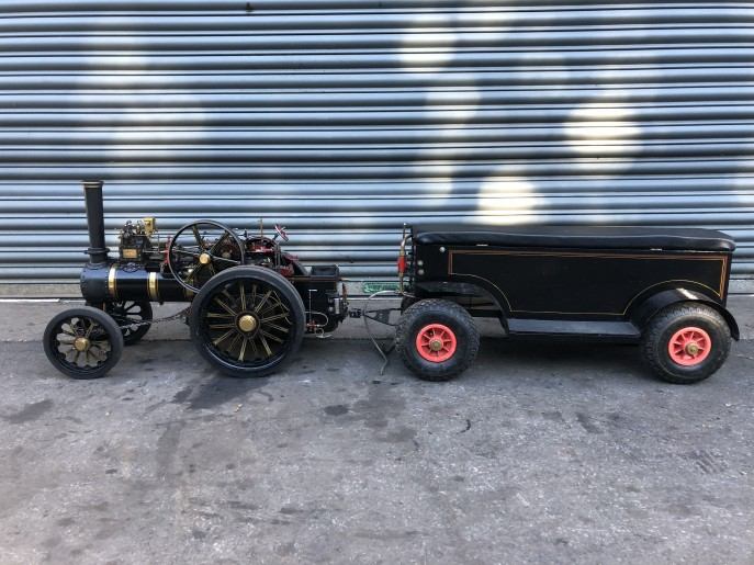 test 2 inch scale Fowler A7 traction engine live steam model for sale 04