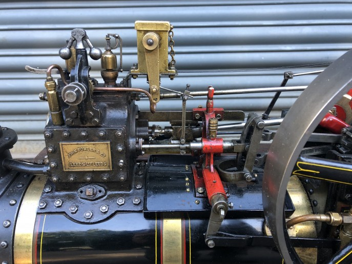 test 2 inch scale Fowler A7 traction engine live steam model for sale 05