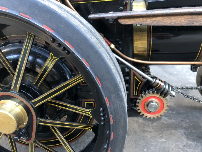 test 2 inch scale Fowler A7 traction engine live steam model for sale 06