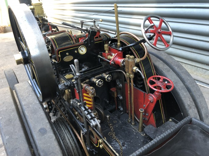 test 2 inch scale Fowler A7 traction engine live steam model for sale 08
