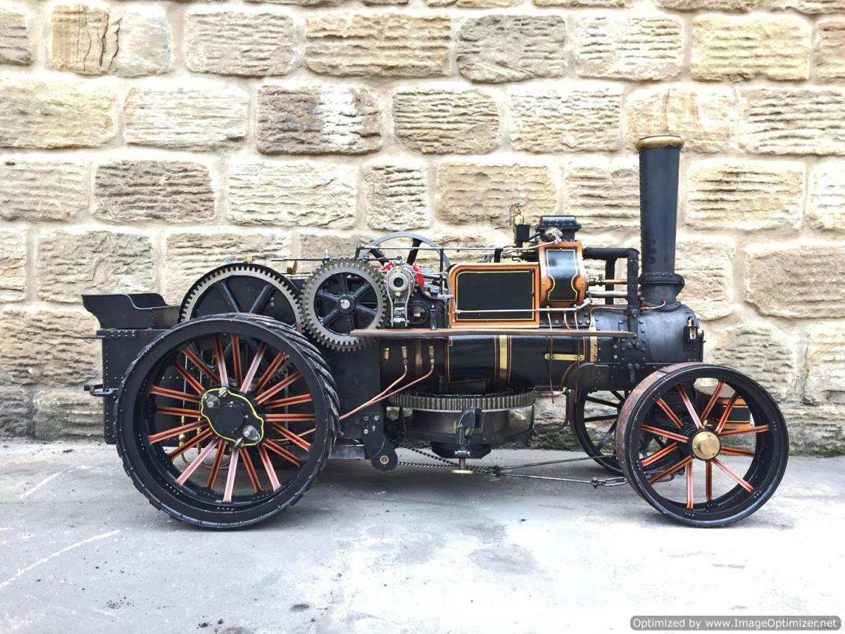 test 2 inch fowler superba ploughing engine live steam traction engine for sale (28)