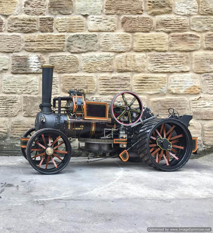 test 2 inch fowler superba ploughing engine live steam traction engine for sale (30)