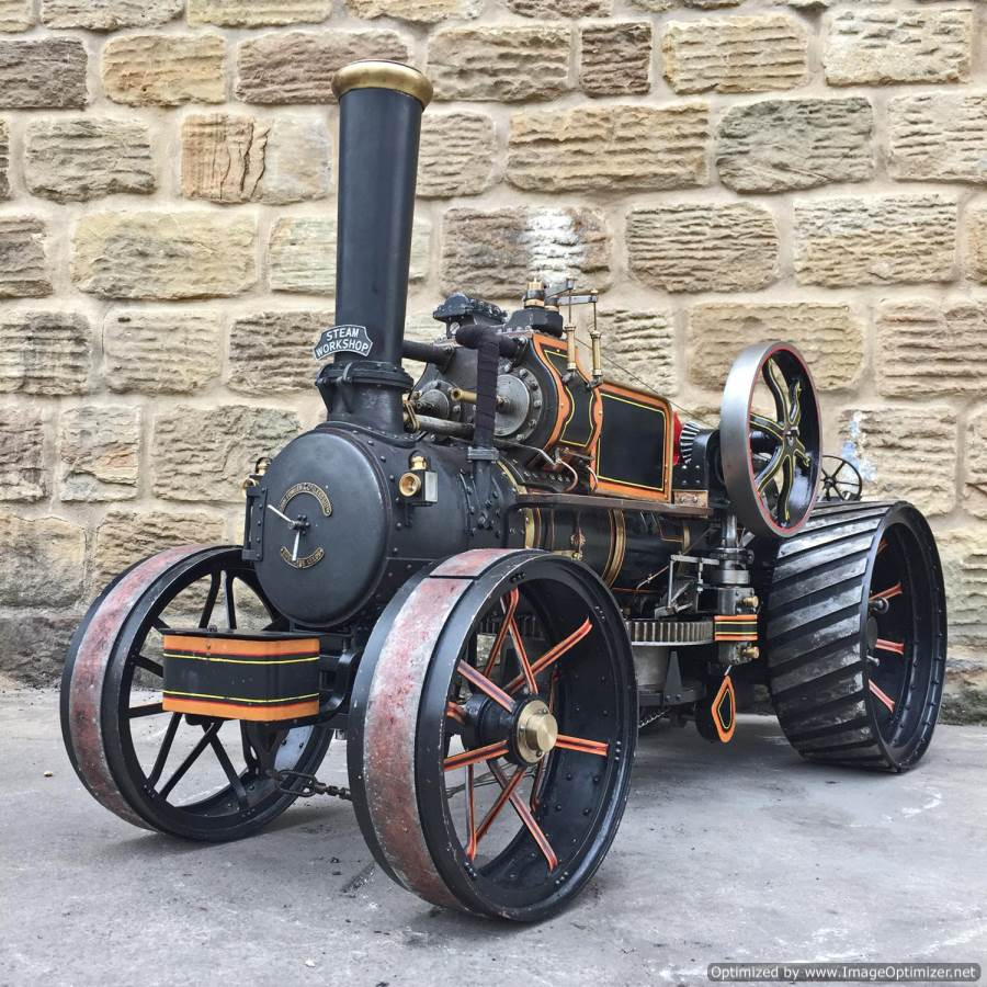 test 2 inch fowler superba ploughing engine live steam traction engine for sale (31)