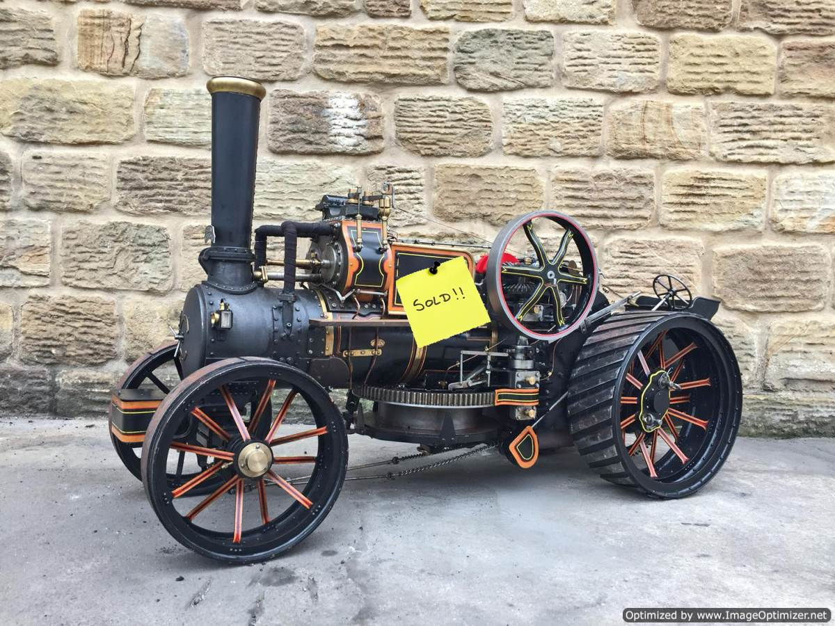 test 2-inch-fowler-superba-ploughing-engine-live-steam-traction-engine-sold