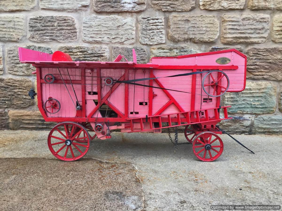 test 2 inch scale Clayton Threshing Machine live Steam for sale (21)