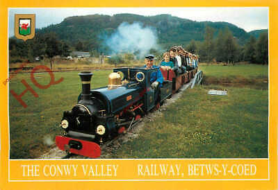 test Betws-y-coed conwy valley miniature railway postcard