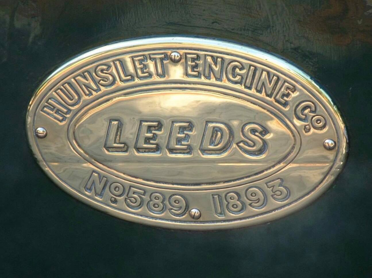 test Penrhyn Quarry Hunslet works plate Blanceh