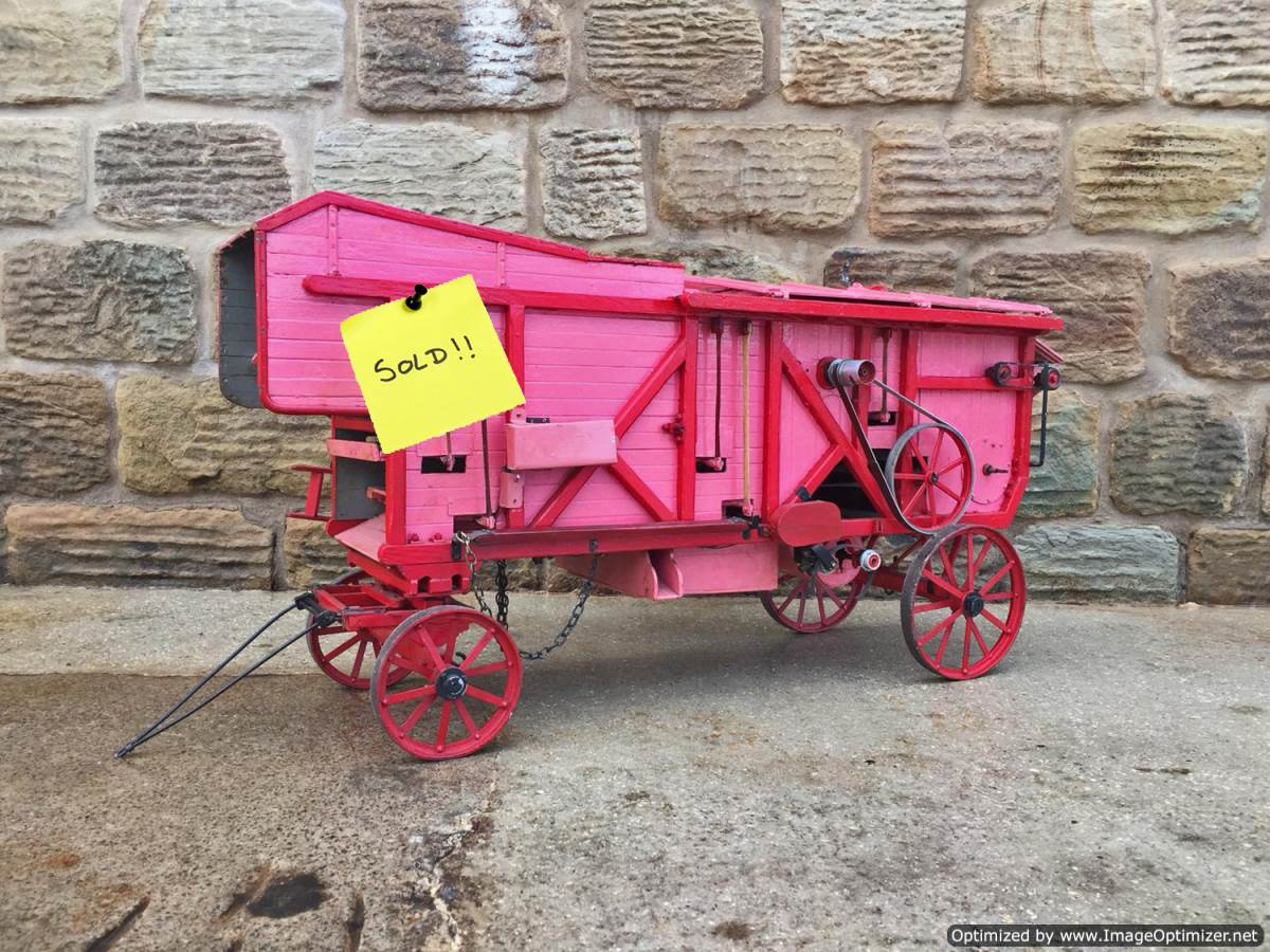 test 2-inch-scale-Clayton-Threshing-Machine-live-Steam-SOLD