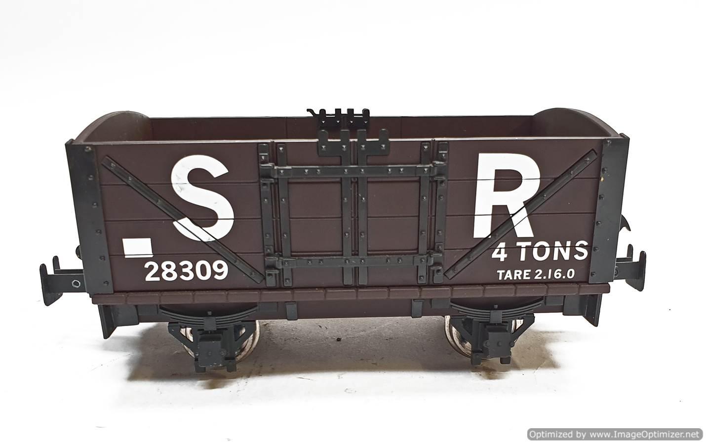 test L&B Open Wagon SR Brown #28309 garden rail live steam for sale (4)
