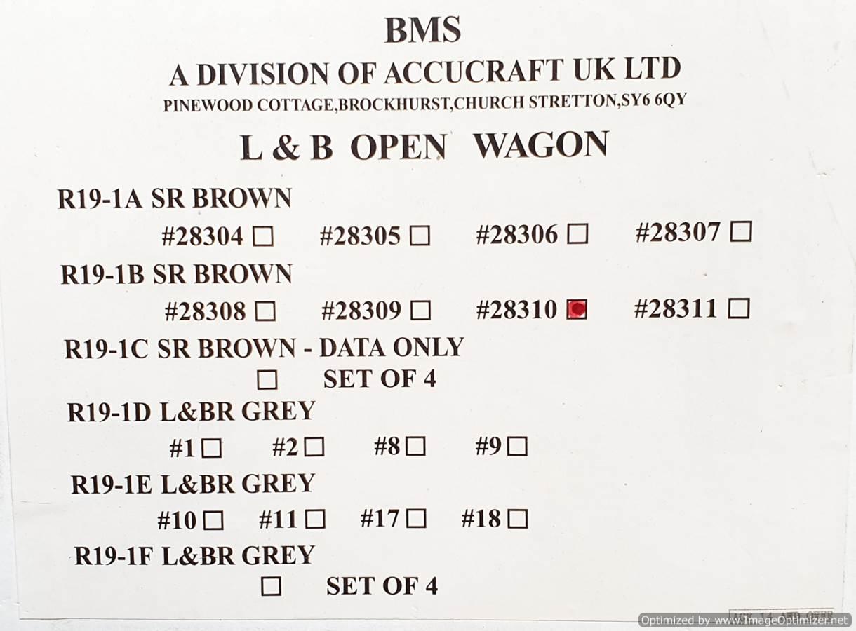 test L&B Open Wagon SR Brown #28310 garden rail live steam for sale (1)