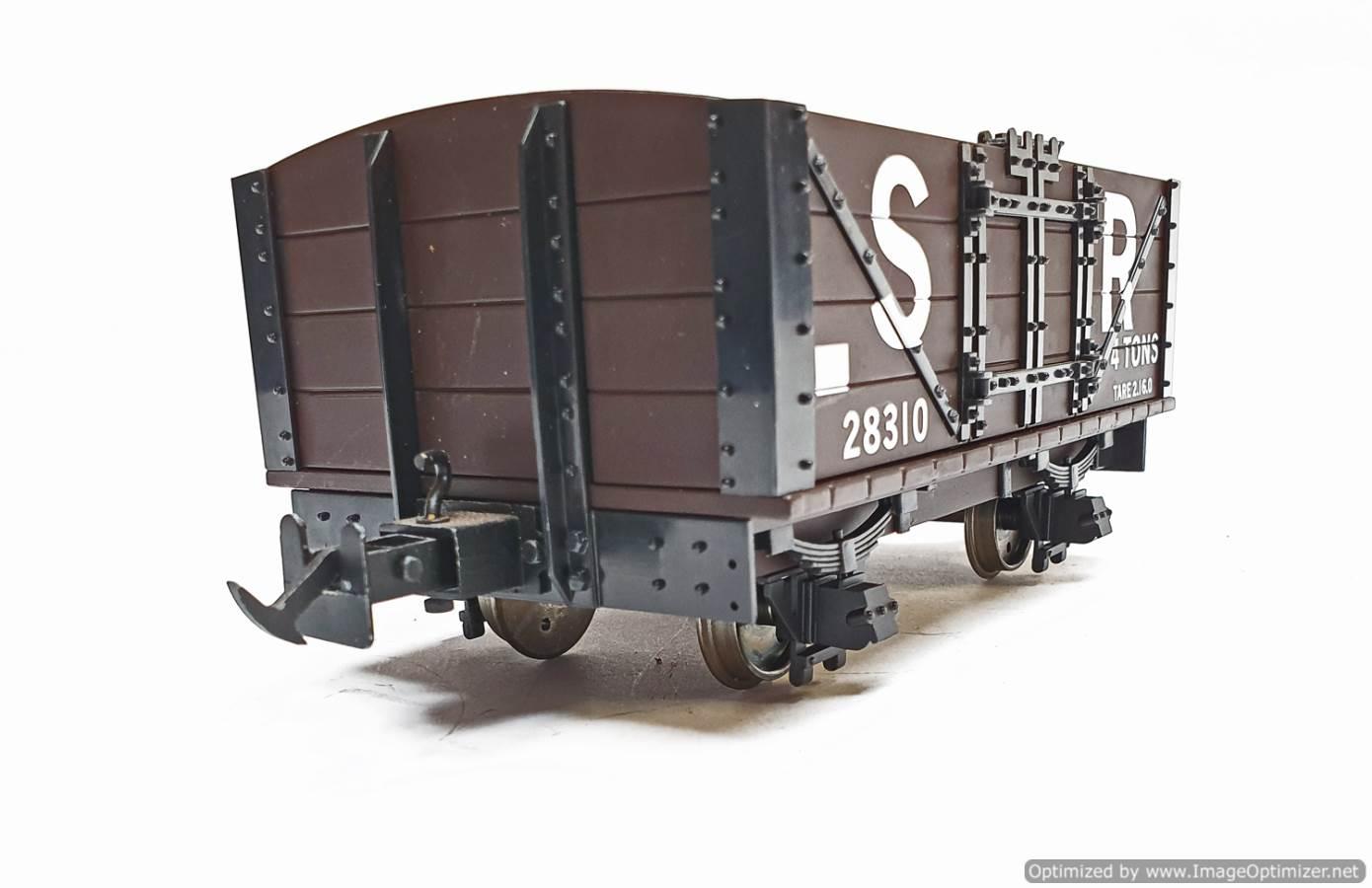test L&B Open Wagon SR Brown #28310 garden rail live steam for sale (5)