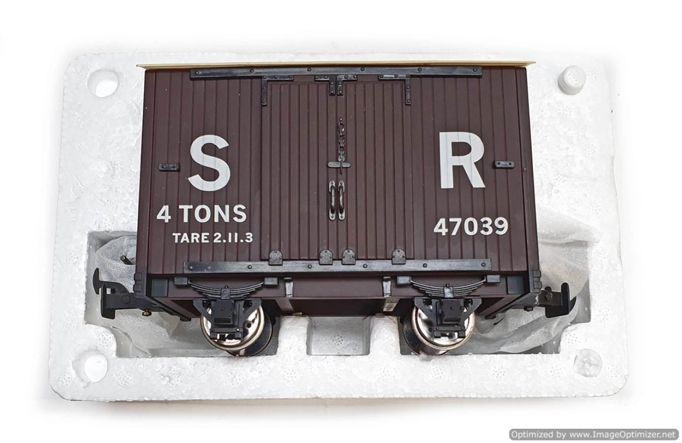 test L&b 4 wheel goods van #47039 garden rail live steam for sale (2)
